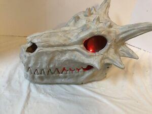 Color Changing Light Up Dragon Skull Halloween Decorative Prop