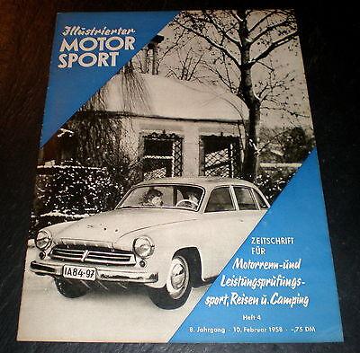 Temperamentvoll Illustrierter Motorsport 04/58 Typenblatt Kreidler Florett 50,gasomat,motorradba Automobilia Berichte & Zeitschriften