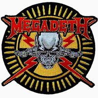 Megadeth Skull & Bullets Embroidered Iron-on Patch 3 3/4