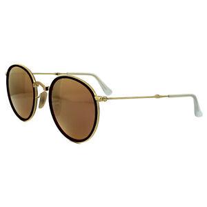 ecd8f084e7c Ray-Ban Sunglasses Round Folding 3517 001 Z2 Gold Copper Mirror ...