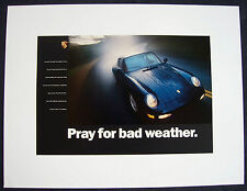 PORSCHE OFFICIAL 911 993 CARRERA 4 DEALER SHOWROOM POSTER 1995 - 1998