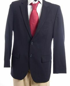 HUGO BOSS Red Sakko Jacket Aamon Gr.48 blau uni Einreiher 2-Knopf -S698