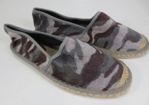 YAYA Espadrilles Schuhe Slipper grau Camouflage Samt NEU