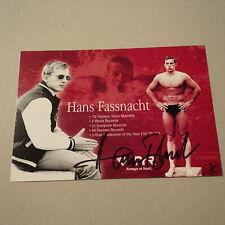 HANS FASSNACHT (GER) OS 1972/2. SCHWIMMEN signed AK 10x15