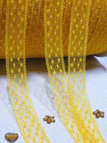 *** *** Ribete De Encaje Cinta 11 Colores sewwing Craft arcos Pulgadas Boda Tarjetas estrecho