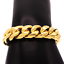 thumbnail 14 - Cuban-Link-Bracelet-18KT-Gold-Plated-Stainless-Steel-Open-Box-Clasp-Mens-Jewelry