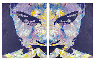 2x-art-painting-print-pop-abstract-woman-large-face-70cm-by-50cm