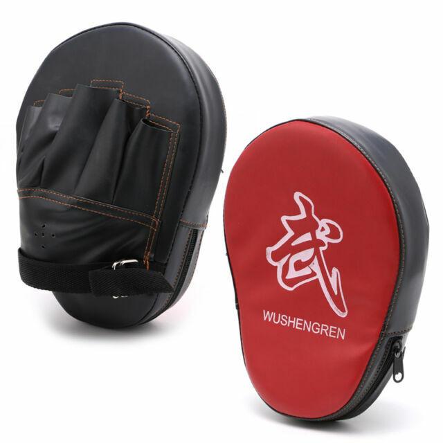 Boxing Focus Target Punch Pad Mitt MMA Karate Combat Thai Kick Training Gloves