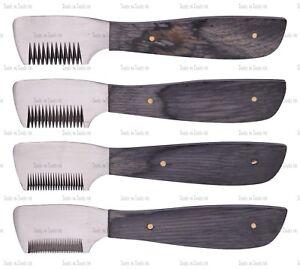 Couteau à carder couteau de chat chien de toilettage pour animaux de compagnie 4 pièces, noir