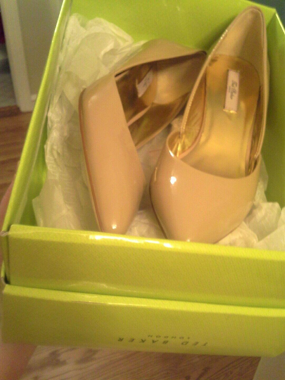 NIB,Ted Baker Womens Harrisia Nude Tan shoes Heels 7.5 7.5 7.5 3719df
