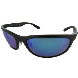 210-Ray-Ban-Mens-RB4265-Chromance-Polarized-Sunglasses-Black-Blue-Mirror