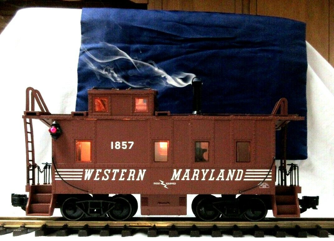 ARISTO CRAFT 42126 WESTERN MARYLe  CABOOSE W METAL ruedaS, SMOKE & LIGHTING