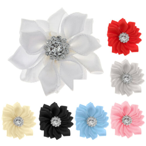10pcs Satin Ribbon Flower Craft DIY Supplies Wedding Decoration Gift Hair Dress
