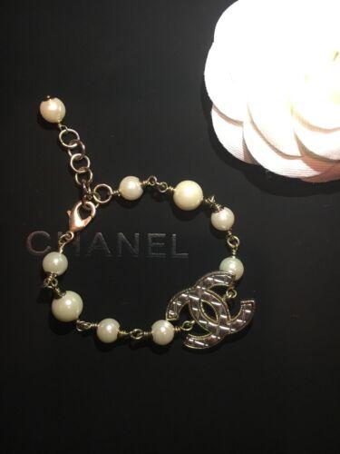 Chanel CC Pearl Bracelet Authentic