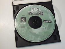 PLAYSTATION PS1 GIOCO Reel Fishing SOLO CD, usato ma BENE