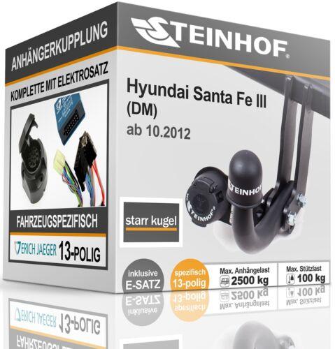 AHK solid Für Hyundai SANTA FE III DM mit Vorbereitung+E-SATZ 13p SPEZIFISCH