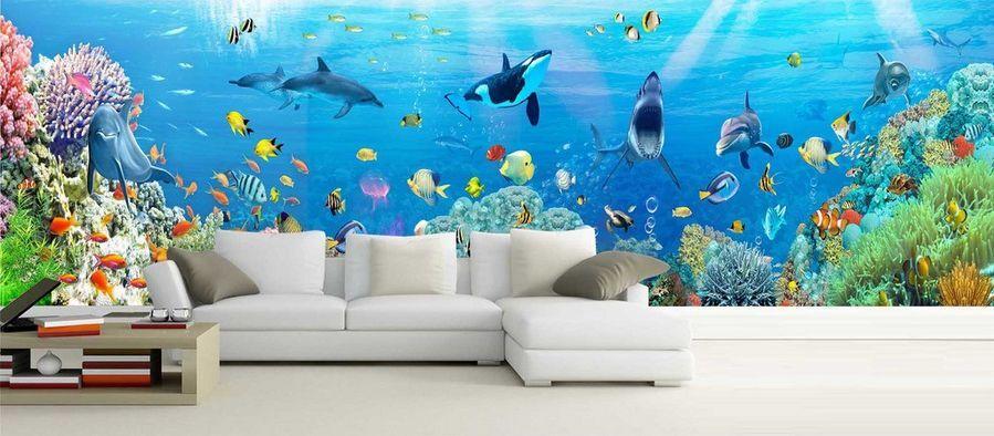 3D Couleur Mer 71 Photo Papier Peint en Autocollant Murale Plafond Chambre Art