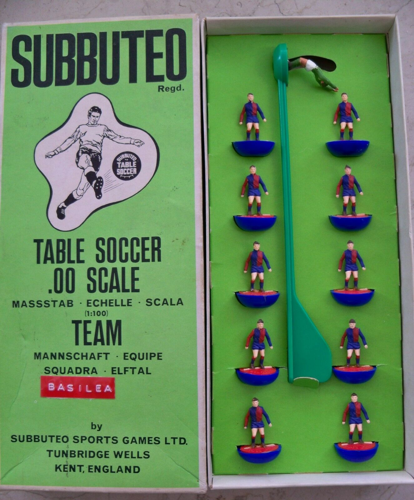 SUBBUTEO TEAM BASILEA (SVI) HW REF N.107 PLAYERS AND LONG BOX MINT CONDITIONS