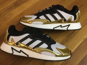 Details about Adidas Boost TRESC RUN Shoes Gold/white/black EG5661 Men's Size 9.5