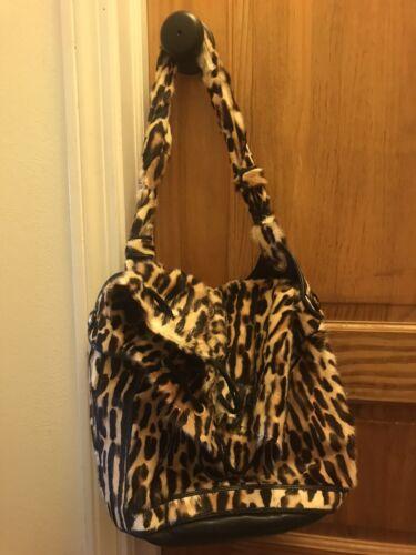 Fendi Leopard Drawstring Bag Pony Hair
