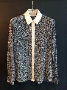 Michael-Kors-Floral-Print-Blouse-Size-XS-Michael-Kors-Button-Front-Shirt
