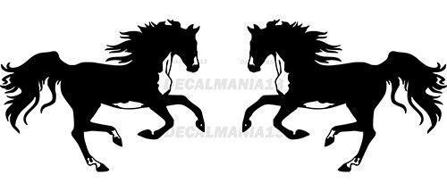 "Horses Wild Horse 2 7/"" x 5.2/"" Each Vinyl Sticker Decal Wall Car Truck Window"