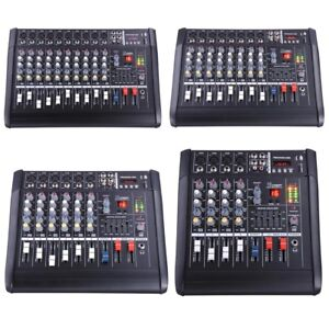 DJ-Studio-Power-Mixer-Amplifier-16DSP-LCD-Recording-USB-Slot-4-6-8-10-Channel