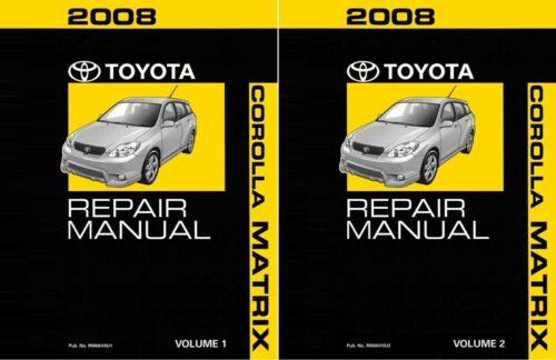 2008 Toyota Corolla Matrix Shop Service Repair Manual Complete Set ...