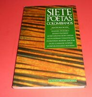 Siete Poetas Colombianos 7 Colombian Poets Anthology In Spanish