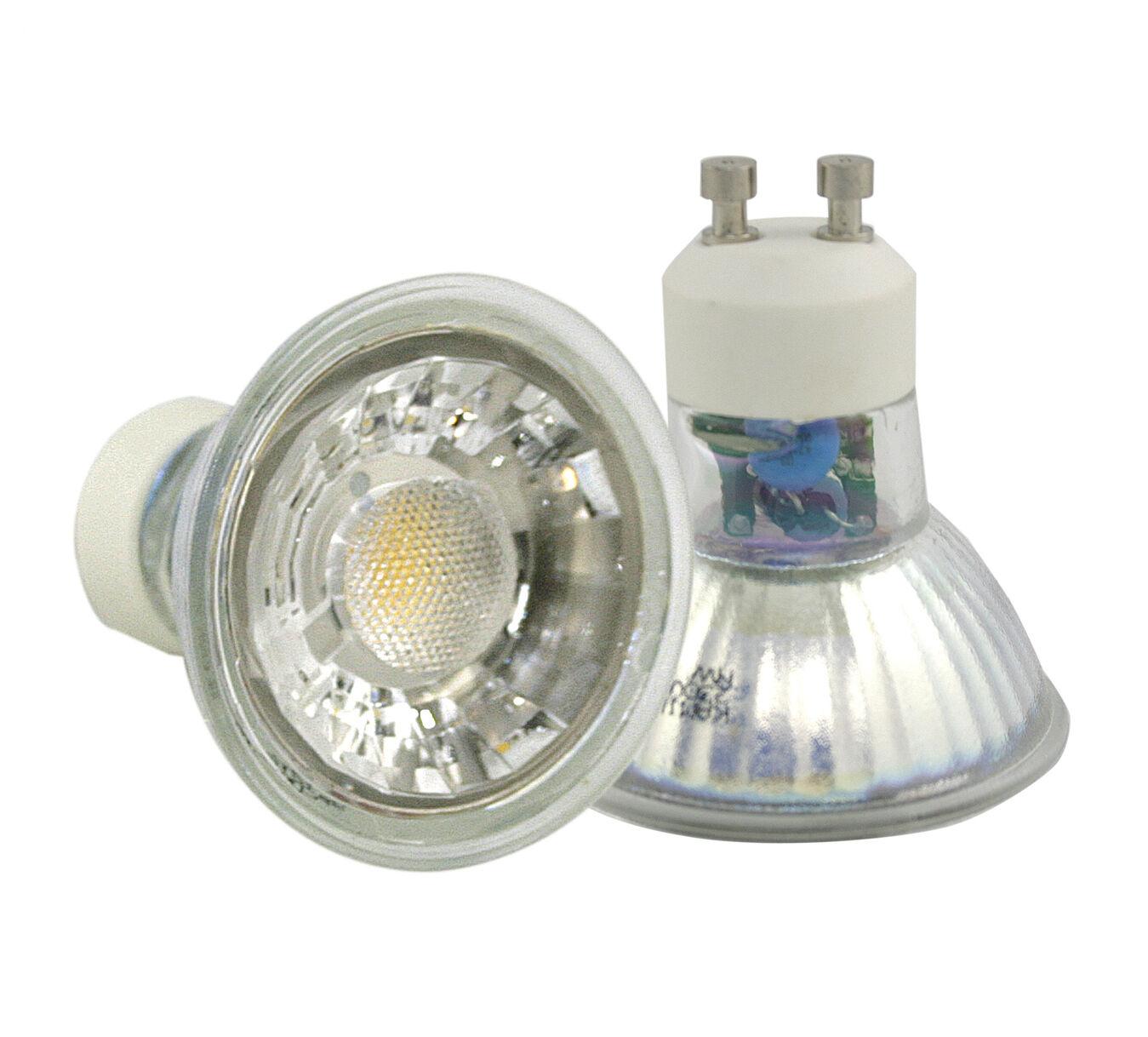 10 unidades de LED emisor 7w gu10 230v vidrio-lámparas LED Hell como 70 vatios halogen