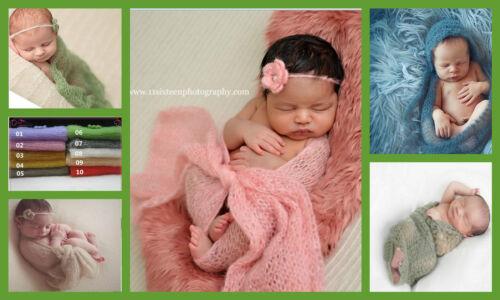 ★★★NEU Fotoshooting Kostüm Mohair Wrap Wickeltuch /& Haarband 0-6 Monate★★Nr.B