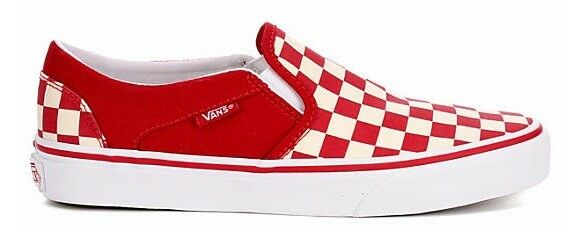 VANS ASHER SLIP ON scarpe scarpe scarpe da ginnastica FOR donna CASUAL SKATE STYLE scarpe CANVAS NIB 464855