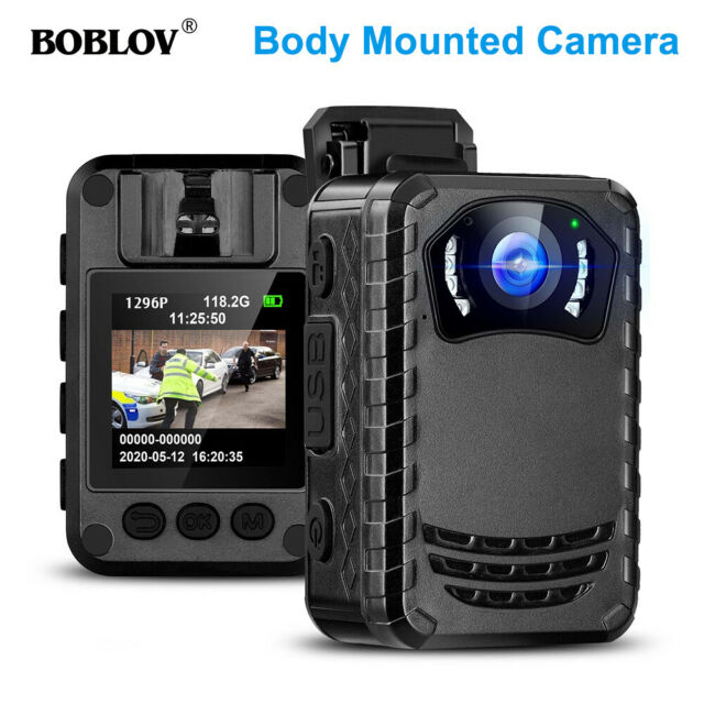 BOBLOV Wearable Body Camera Full HD 1296P Night Vision For Outdoor Travel Hot