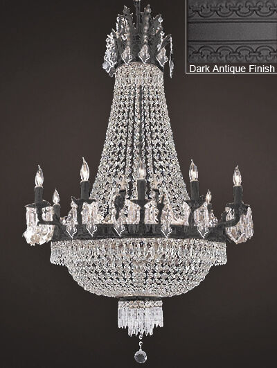 FRENCH EMPIRE CRYSTAL CHANDELIER CHANDELIERS LIGHTING 25X32 12 LIGHTS & French Empire Crystal Chandelier Chandeliers Lighting 25x32 12 ...