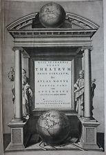 Original Blaeu Atlas, Theatrum Orbis Terrarum de la página de título, Atlas Novus, 1640