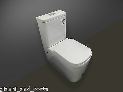 TOILET SUITE CERAMIC BACK TO WALL  SOFT CLOSE HARD UF SEAT - P OR S TRAP