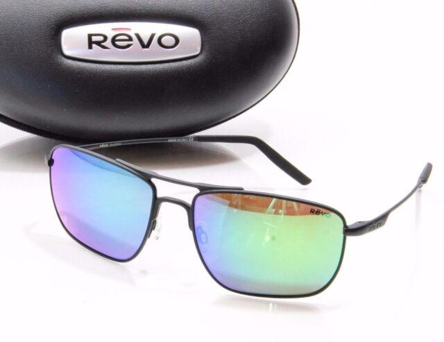 91d192cc9e1 REVO Groundspeed Re308901gn Polarized Rectangular Sunglasses Black green  56mm