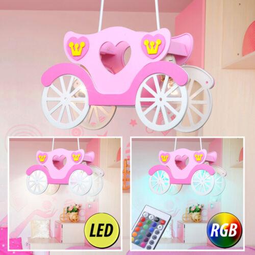 DEL chambre enfant Lampe Pendule fille princesse carrosse RGB Télécommande