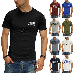 Jack-amp-Jones-T-Shirt-Hommes-Print-Shirt-Manches-Courtes-Shirt-Short-Manche-Casual-SALE