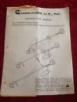 Maruyama Trimmer/brushcutter Instructional Manual Bc201c/bc260c/bc320