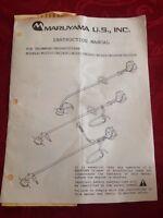 Maruyama Trimmer/brushcutter Instructional Manual Bc201c/bc260c/bc320