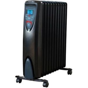 Dimplex Portable 2400W Oil Free Eco Column Heater w/ Thermostat/Remote/Timer BLK