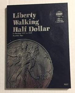 LIBERTY-WALKING-HALF-1937-1947-9027-COIN-FOLDER-BY-WHITMAN-NEW-OLD-STOCK