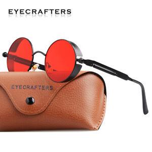 Fashion Round Steampunk Sunglasses Mens Womens Retro Vintage Eyewear