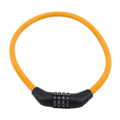 4 Digit Number Code Combination Bicycle Stroller Security Bike Lock Cable W