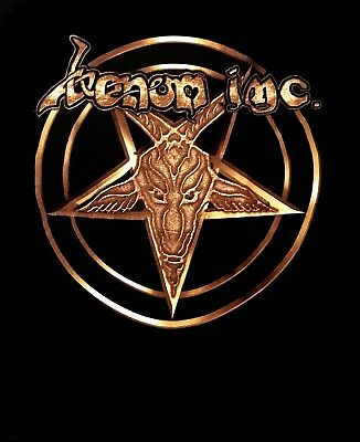 VENOM INC cd lgo We Bleed Metal GOLD LOGO PENTAGRAM Official SHIRT 2XL New avé