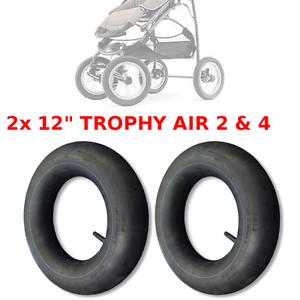 """2 x SCHLAUCH 12 /"""" ZOLL TROPHY AIR 2 /& 4 KINDERWAGEN BABY ROLLER INNEN GUMMI PRAM"""