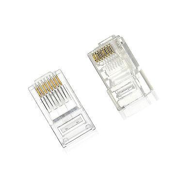 15Pcs Practical Internet Gold Plated Cable Modular Plug Adapter RJ45 8P8C CAT5E