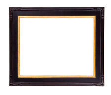 6 x 8 Black W/ Red Rub Finish & Hand Applied Gold Leaf   Beautiful Picture Frame