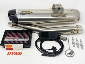 details zu can am ryker 900 powerkit 3 dynojet pv3 two brothers exhaust kn filter ngk